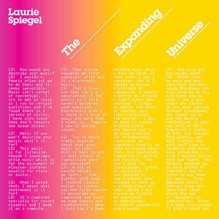Laurie Spiegel The Expanding Universe