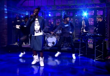 Le1f 'Wut' (ft. Blood Orange) (live on 'Letterman')