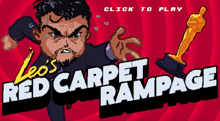 Help Leonardo DiCaprio Finally Win That Oscar in the 'Red Carpet Rampage' Game