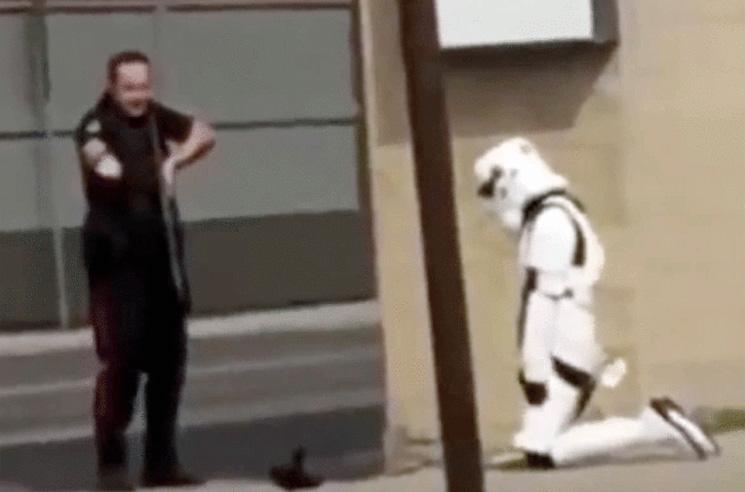 William Shatner Blasts Lethbridge Police over Brutal Takedown of Star Wars Stormtrooper
