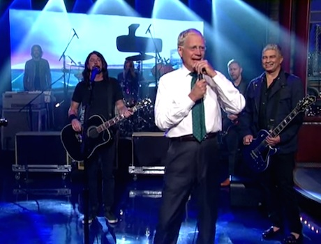 Foo Fighters 'Polk Salad Annie' / 'Miracle' (live on 'Letterman')