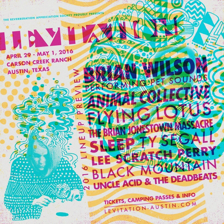 Austin's Levitation Fest Gets Brian Wilson Playing 'Pet Sounds' in Full, Plus Animal Collective, Flying Lotus, Sleep