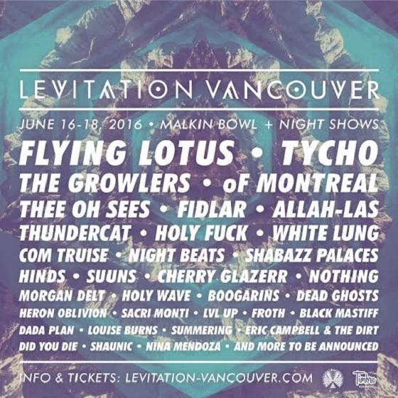 Levitation Vancouver Reveals 2016 Lineup