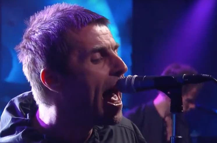 "Watch Liam Gallagher Perform ""For What It's Worth"" and ""Wall of Glass"" on 'Colbert'"