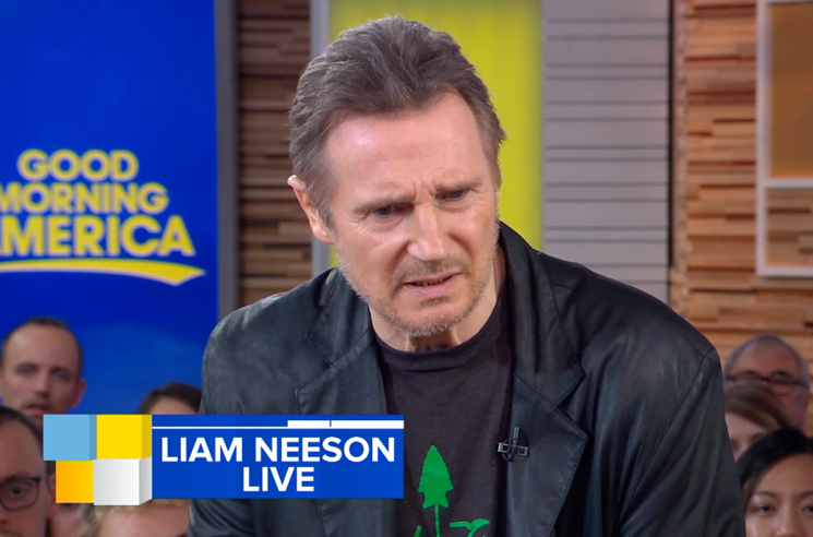 "Liam Neeson Says ""I'm Not Racist"" Following Interview Backlash"