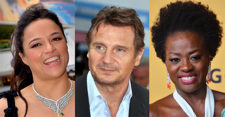 Michelle Rodriguez Says Liam Neeson Is Not Racist Because He French-Kissed Viola Davis in a Movie
