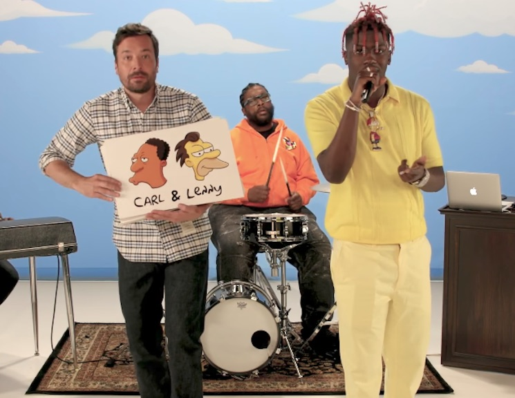 Watch Lil Yachty Rap About 59 'Simpsons' Characters with the Roots and Jimmy Fallon