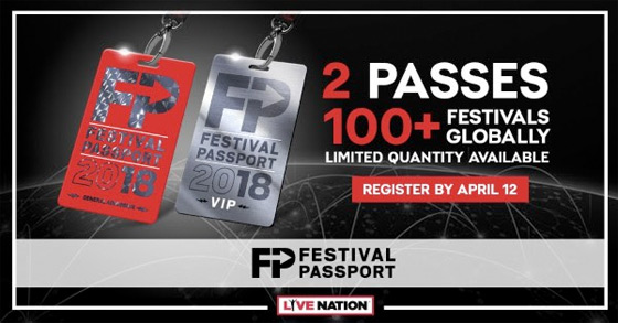 Live Nation Launches 2018 Festival Passport
