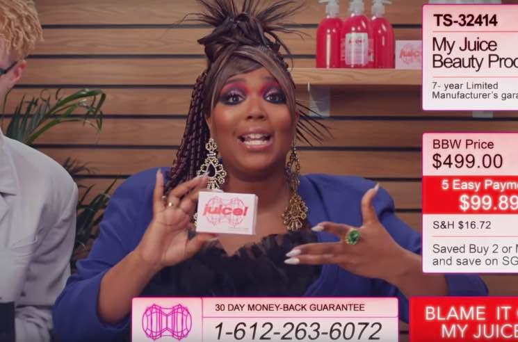 "Lizzo Goes Full Retro Infomercial for ""Juice"" Video"