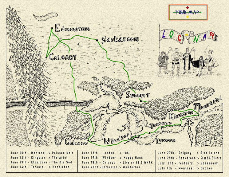 LOC-NAR Map Out Canadian Summer Tour Dates