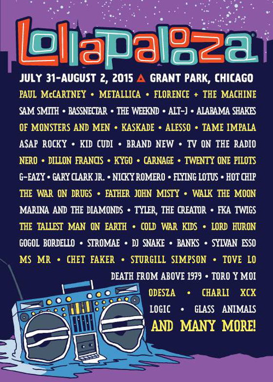 Lollapalooza Reveals 2015 Lineup