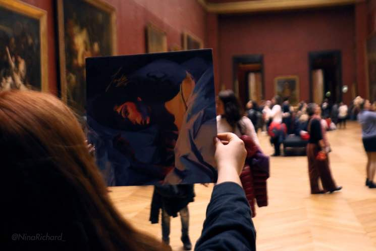 A Lorde Fan Actually Hung 'Melodrama' in the Louvre
