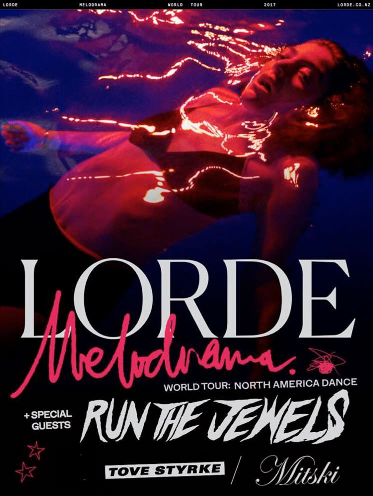 Lorde Is Bringing Run the Jewels, Mitski and Tove Styrke on Her North American Tour