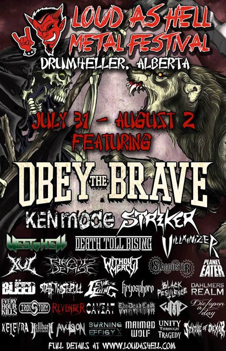 KEN Mode, Striker, Obey the Brave to Play Drumheller's Loud as Hell Festival