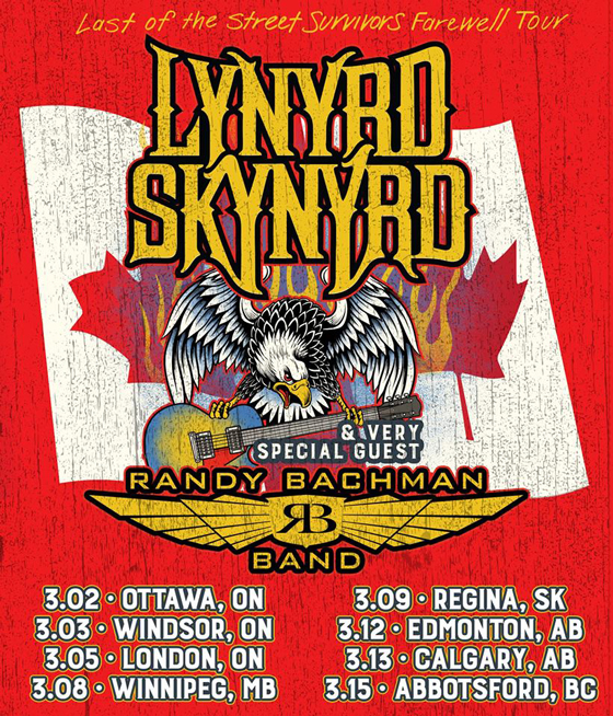 Lynyrd Skynyrd Map Out Canadian Farewell Tour