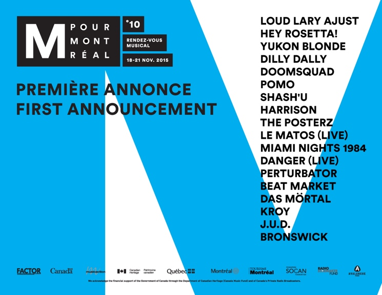 M for Montreal Announces Initial Batch of Artists