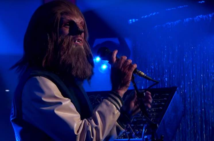 "M83 Does ""Do It, Try It"" and ""Go"" Dressed as Teen Wolf on 'Kimmel'"