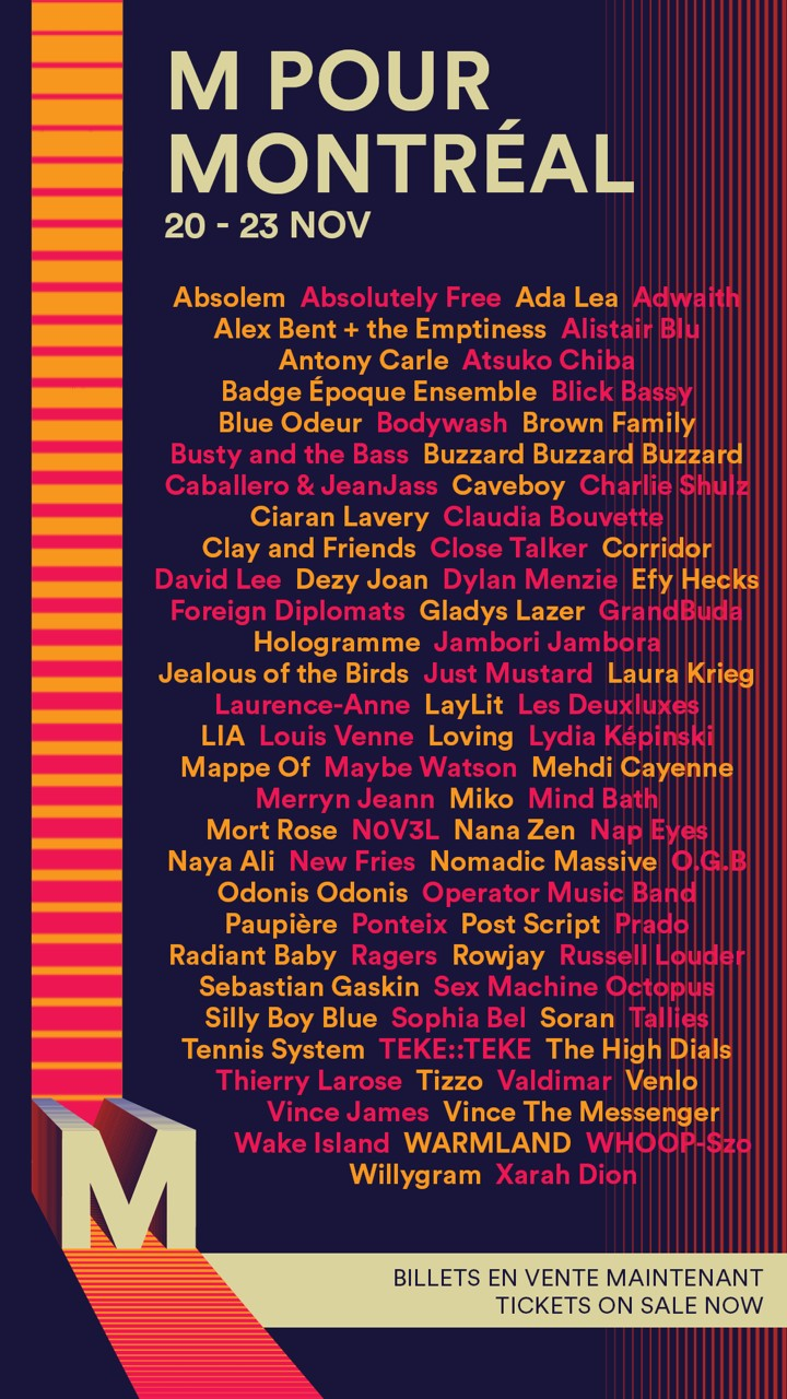 M for Montreal Shares Full 2019 Lineup