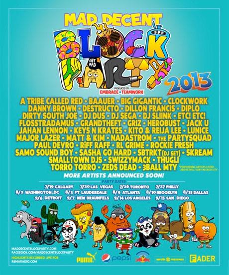 Mad Decent Block Party Brings Out Major Lazer, Zeds Dead, Riff Raff, Baauer, SBTRKT
