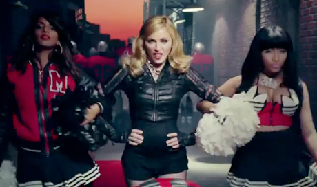 """Madonna """"Give Me All Your Luvin'"""" (ft. Nicki Minaj and M.I.A.) (video)"""