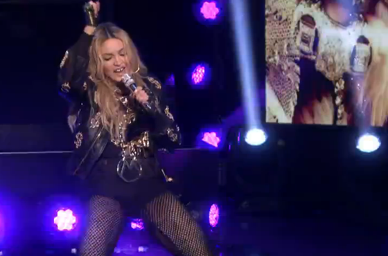 "Madonna ""Bitch I'm Madonna"" (ft. Diplo) / ""Holiday"" (ft. the Roots) (live on 'Fallon')"
