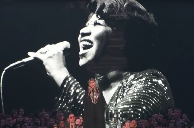 Madonna's rambling Aretha Franklin tribute earns backlash