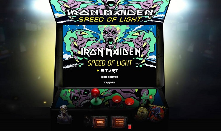"Play Iron Maiden's Very Own ""Speed of Light"" Videogame"