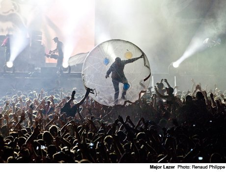 Major Lazer Bell Stage at the Plains of Abraham, Quebec City QC July 11