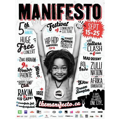 Toronto's Manifesto Festival Lines Up 9th Wonder, Afrika Bambaataa, Rakim for 2011 Edition