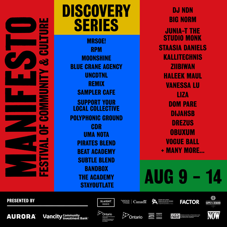Toronto's Manifesto Festival Shares Discovery Series Lineup