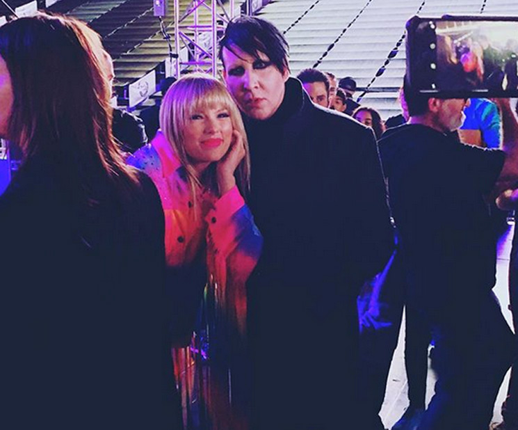 Marilyn Manson Hung Out with Taylor Swift and the Jonas Brothers, and the Internet Is Confused