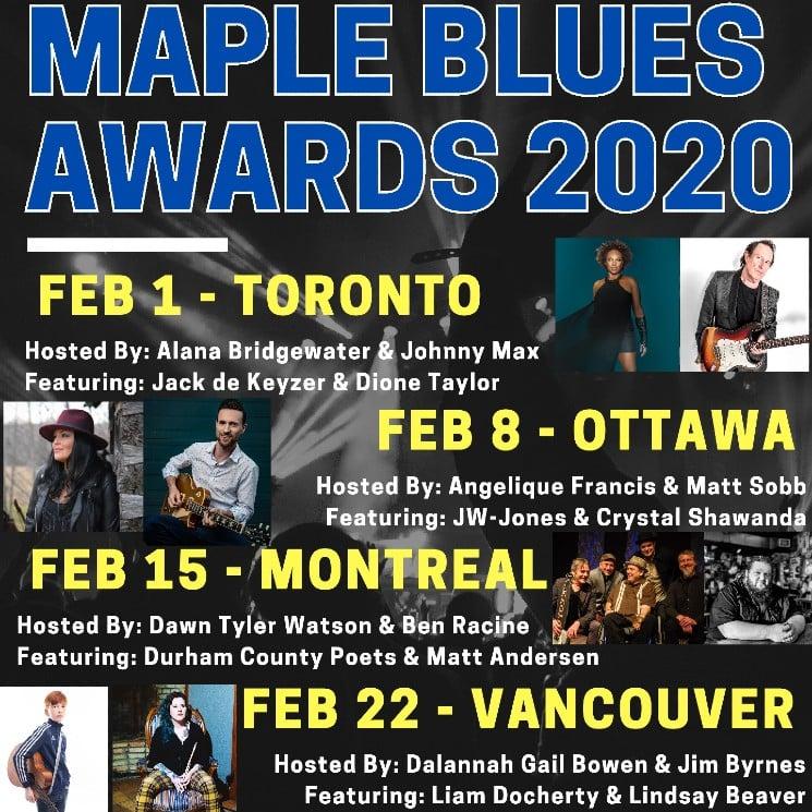 Toronto Blues Society Readies Annual Maple Blues Awards
