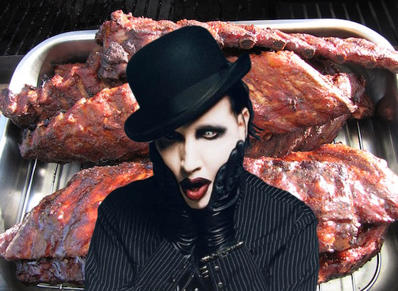 Someone Finally Asked Marilyn Manson If He Had a Rib Removed to Blow Himself
