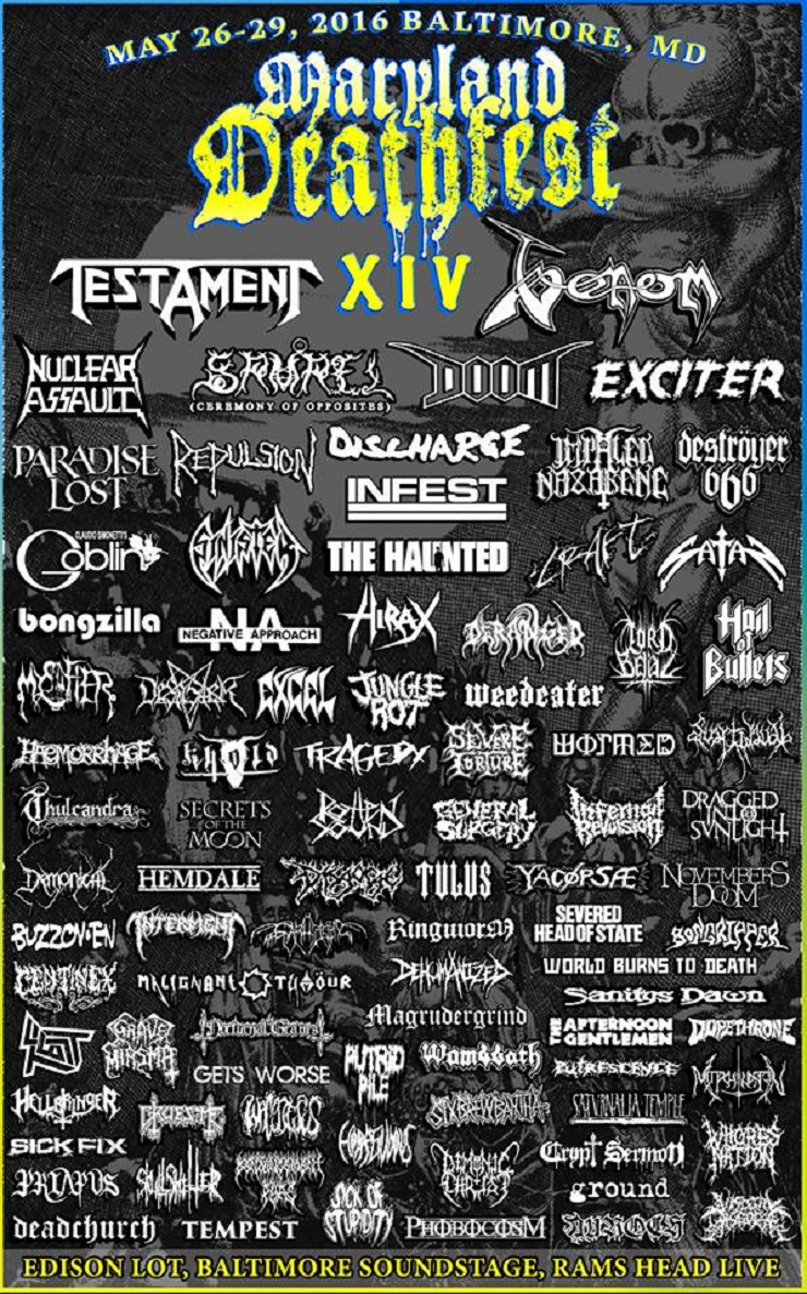 Maryland Deathfest Adds Testament, Repulsion, Goblin, Nuclear Assault