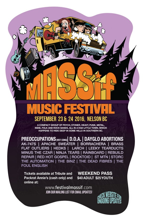 BC's Inaugural MASSiF Festival Brings Out Preoccupations, D.O.A., Dayglo Abortions