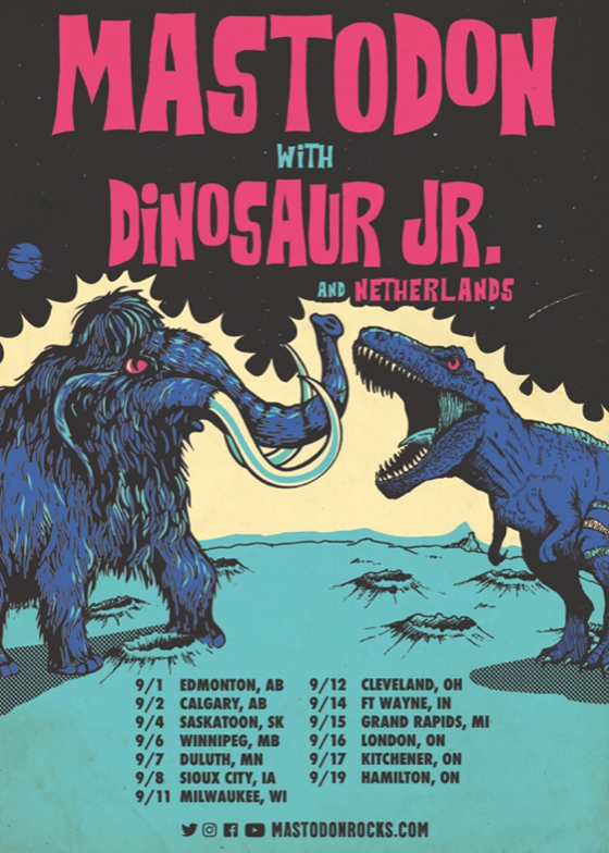 Mastodon and Dinosaur Jr. Map Out North American Tour