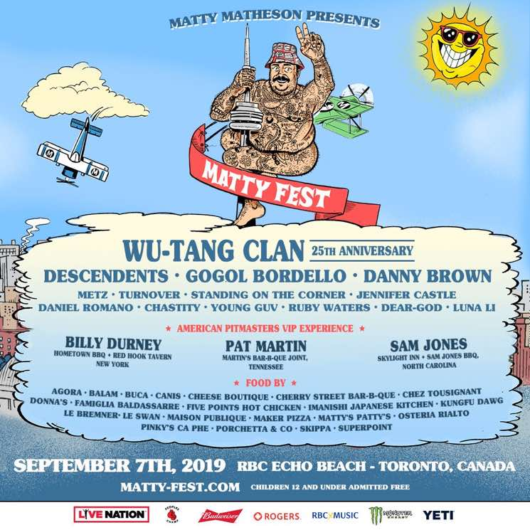 ​Matty Matheson Brings Wu-Tang Clan, Descendents, Danny Brown to Toronto for Matty Fest