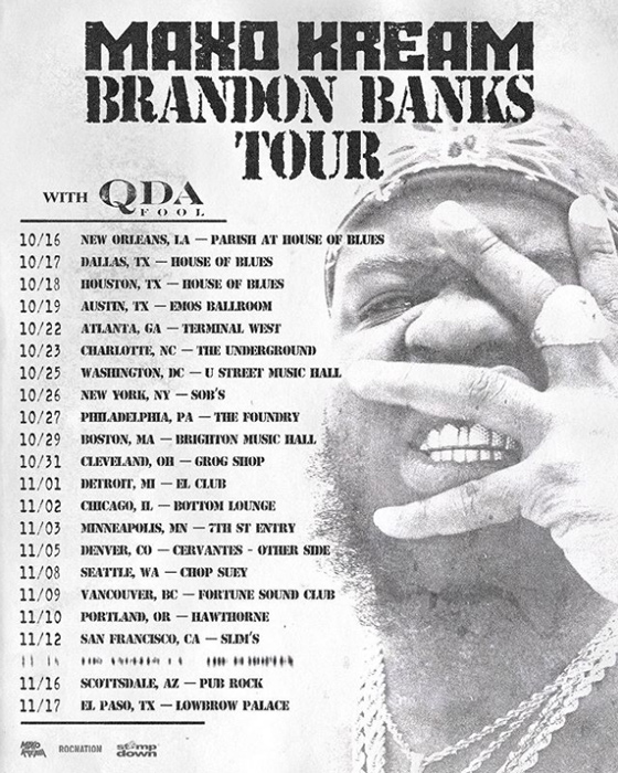 Maxo Kream to Play Vancouver on North American Fall Tour