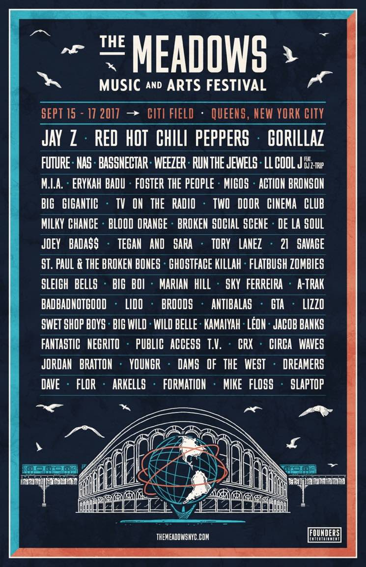 The Meadows Festival Gets Jay Z, Red Hot Chili Peppers, Gorillaz for 2017 Edition