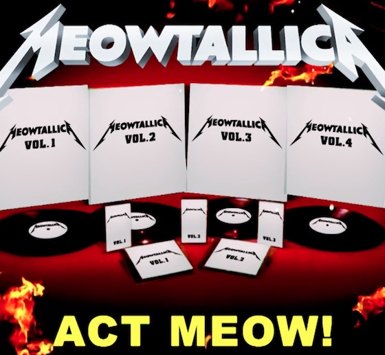 Metallica Get Feline Makeover for 'Meowtallica'
