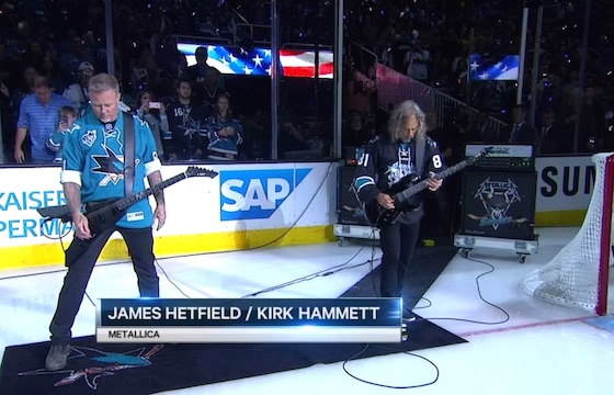 """Watch Metallica Shred Through """"The Star-Spangled Banner"""" at Stanley Cup Finals"""