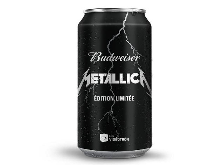 Metallica Get Limited Edition Budweiser in Quebec
