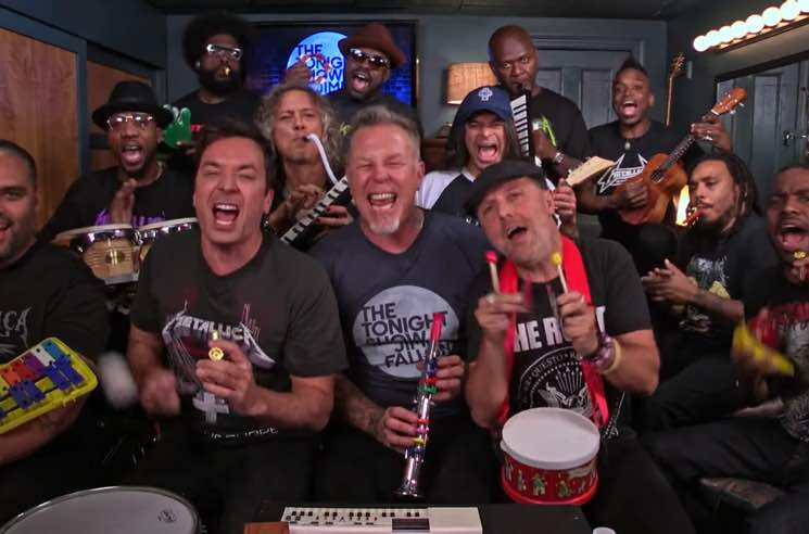 "​Watch Metallica Play ""Enter Sandman"" on Toy Instruments with Jimmy Fallon and the Roots"
