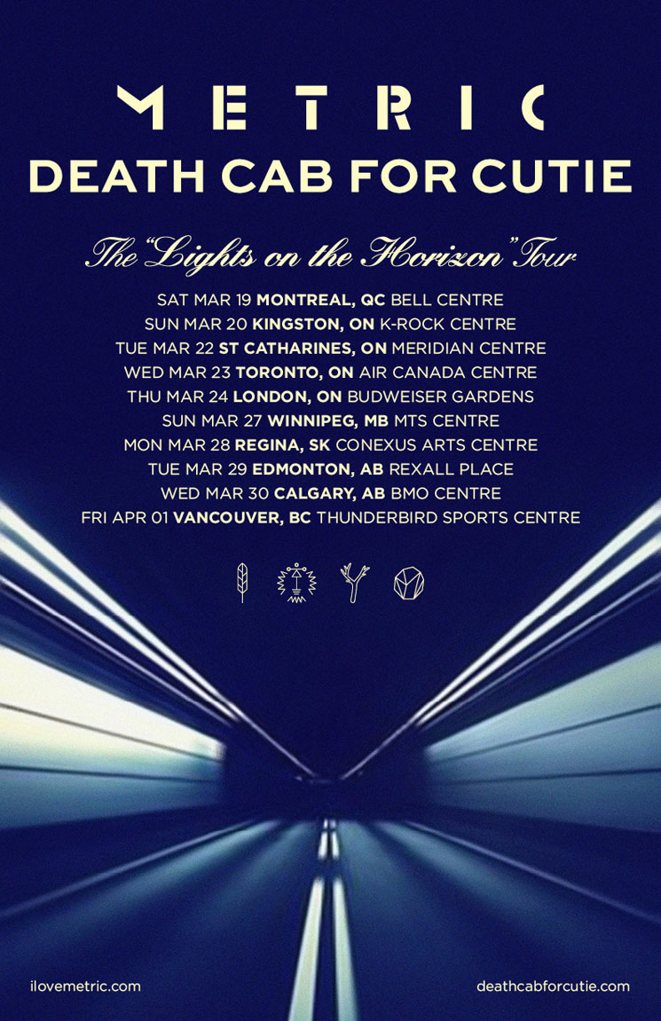 Metric and Death Cab for Cutie Pair Up for 'Lights on the Horizon' Canadian Tour