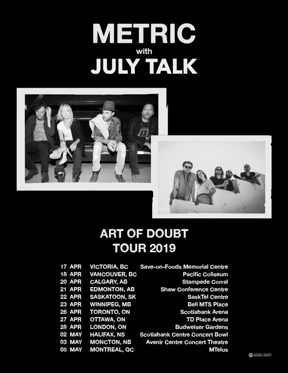 Metric and July Talk Team Up for Canadian Tour