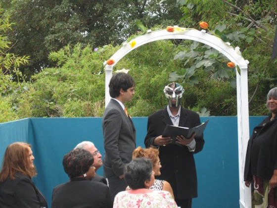 Those Photos of MF DOOM Officiating a Wedding Are Real (But Old)