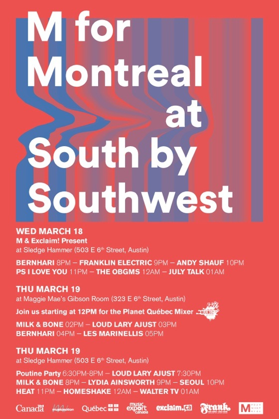 M for Montreal Reveals SXSW Showcases