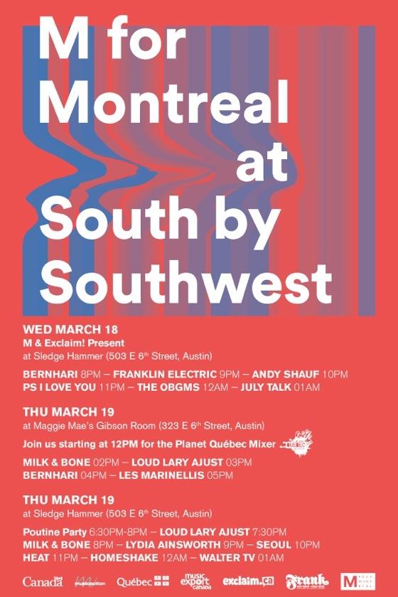 M for Montreal Reveals SXSW Showcases