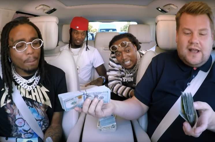 "Migos Ad Lib over ""I Wanna Dance with Somebody"" and ""Sweet Caroline"" on ""Carpool Karaoke"""
