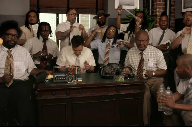 """Watch Migos, the Roots and Jimmy Fallon Play """"Bad and Boujee"""" Using Office Supplies"""